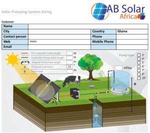AB Solar pumps for Ghana market